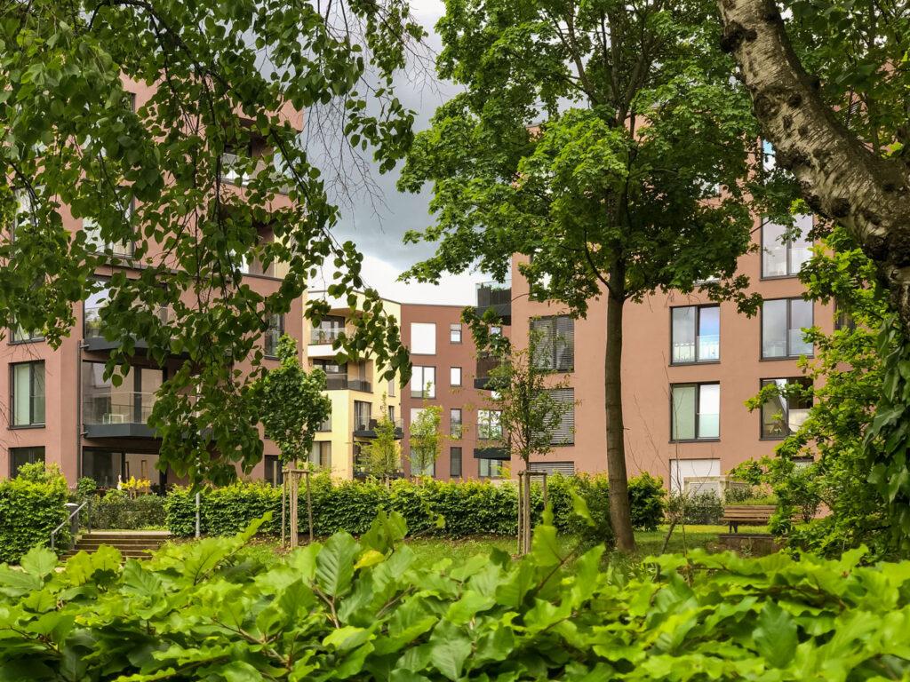 Oberes Albgrün Ettlingen Blick durchs Grün